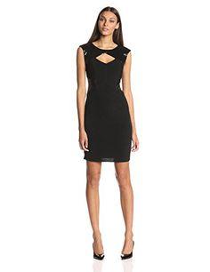 Calvin Klein Women's Sleeveless Cut Out Sparkle Embellished Dress     #Calvin, #Dress, #Embellished, #Klein, #Sleeveless, #Sparkle, #Under25, #WomenS
