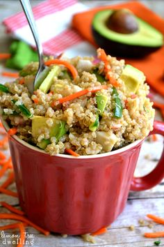 California Roll Quinoa Salad - all the flavors of a California Roll in a quinoa salad!