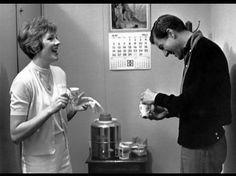 Julie Andrews and Dick van Dyke on break (Mary Poppins)
