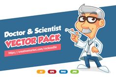 Doctor Vector Pack by pecellele pencil on Creative Market
