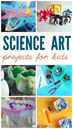 Science art projects for kids. TONS of great ideas here.