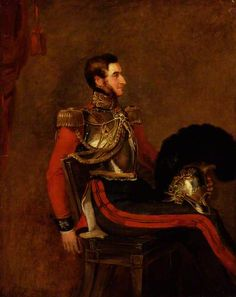 Portrait of Edward Pyndar Lygon, 1834-40 by William Salter (1804-1875) He is shown here wearing the uniform of 2nd Life Guards in which he served during the Peninsular War and at Waterloo.