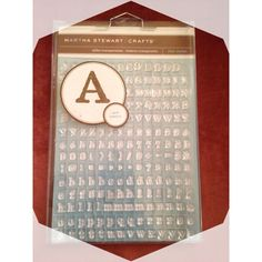 Martha Stewart Clear Stamps Serif Typeface : Free Shipping :
