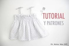 Como hacer este vestidito Cute Baby Girl Outfits, Baby Girl Dresses, Flower Girl Dresses, Baby Dress Patterns, Baby Sewing, Dress Making, Look, Summer Dresses, Blouse
