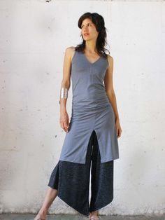 Womens summer dressThe grey CHIC SLIT DRESS2 ways by SHIHAR, $175.00