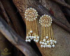 Dangler earrings from Just jewllery Indian Jewelry Earrings, India Jewelry, Bridal Earrings, Pearl Earrings Wedding, Silver Earrings, Gold Jewelry, Stylish Jewelry, Fashion Jewelry, Pakistani Jewelry