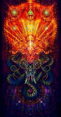 ihti anderson / Sacred Geometry More Arte Black, Psy Art, Mystique, Visionary Art, Dragon Art, Sacred Art, Psychedelic Art, Psychedelic Experience, Fractal Art