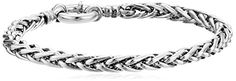 "Italian Sterling Silver 5.0mm Spiga Bracelet, 7.5"" Amazon Collection http://www.amazon.com/dp/B00NMERV0S/ref=cm_sw_r_pi_dp_tWtRvb1GD8S5J"