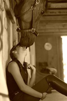 horse and rider share a bond no one will understand. <3
