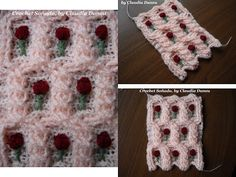 """TWIST"" DOUBLE SEED STITCH CROCHET JACQUARD / ARROZ DOBLE CROCHET ""CON TORZADA"" JACQUARD - YouTube"