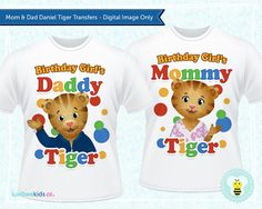 Daniel Tiger Mommy & Daddy Tiger Birthday by LuvibeeKidsCo on Etsy