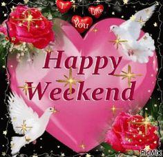 Happy Weekend Heart GIF - HappyWeekend Heart Love - Discover & Share GIFs
