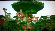 Cool Minecraft tree house :)