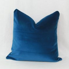 Alert Essie Home Luxury Peacock Blue Turquoise Velvet Cushion Cover Pillow Case Lumber Pillow Case 100% Original Table & Sofa Linens