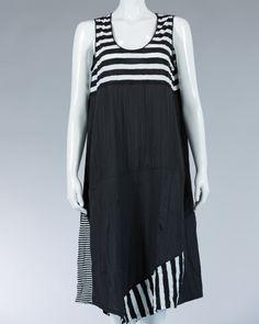 Animale dress a little accent stripes on the bottom - Black #WomenDress #Dress #SummerDress #Animale #WomenWear #WomenFashion #MotifDress