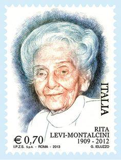 Il ritratto di Rita Levi Montalcini, Nobel per la Medicina nel 1986, sul francobollo da 70 centesimi che dal 16 novembre sarà diffuso dalle Poste Italiane. Il francobollo, che sarà stampato in quasi 3 milioni di copie, è un omaggio alla grande scienziata scomparsa