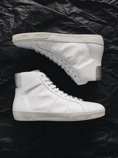 Saint Laurent (YSL) SL/06M Leather High Top Sneakers Mens US 7 EU 40