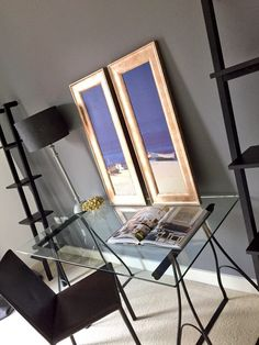 Flat makeover with Farrow & Ball Moles Breath Dark Walls, Grey Walls, Room Paint Colors, Wall Colors, Rental Makeover, Decorating Your Home, Interior Decorating, Glass Desk, Home Office Space