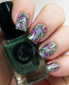 Holographic Flower Nail Art - Did My Nails