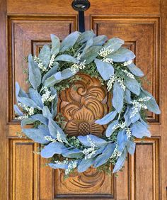 Spring Green Wreath / Spring Leaves Wreath / by SouleHomeDecor