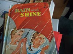 """Vintage Reader, 1955 School Reader, Vintage Reader """"Rain and Shine,"""" Copyright 1955, Author Ardra Soule Wavle Illustrated by: Ruth Steed by vintagecitypast on Etsy"""