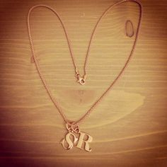 My own necklace with my hubby and my initials :) in rose gold!