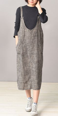 [Newchic Online Shopping] 50%OFF Women Stripe Spaghetti Strap Pocket Vintage Dresses #womensfashion #womens #womenswear #dress
