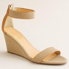 Women's new arrivals - shoes - Greta canvas wedges - J.Crew - StyleSays