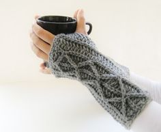 Adeline Fingerless Mitts or Arm Warmers, Easy Crochet Pattern with Faux Cables ( Free Pattern). Fingerless Mitts, a Slouchie Beanie and a Cowl, make fashion statements like none other. They are the perfect combination of . Crochet Simple, Easy Crochet Patterns, Free Crochet, Knit Crochet, Learn Crochet, Knitting Patterns, Beginner Crochet, Crochet Diagram, Free Knitting