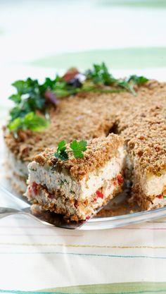 Savory Pastry, Savoury Baking, No Salt Recipes, Baking Recipes, Scandinavian Food, Sandwich Cake, Just Eat It, Savory Snacks, No Bake Treats