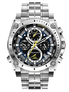 Bulova Precisionist Chronograph Men's UHF Watch with Black Dial Analogue Display…