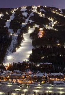 Night Skiing in Keystone, Colorado.