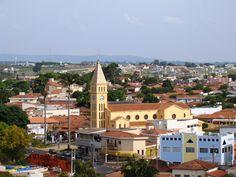 Vista parcial de Cerquilho, com destaque para a Igreja de São José.