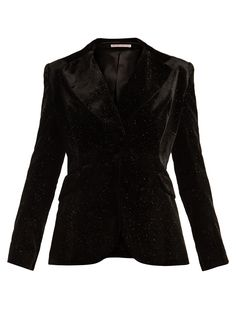Single-breasted glitter-embellished velvet blazer | The Vampire's Wife | MATCHESFASHION.COM UK