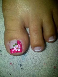 Deco Toenail Art Designs, Hot Nail Designs, Toe Designs, Pedicure Designs, Nail Polish Designs, Hot Nails, Nude Nails, Hair And Nails, Cute Pedicures