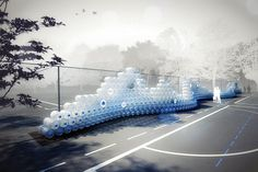 Waving Wall: Massive Recycled Bottle Installation Shows the Virtual Water Footprint of Two Pairs of Jeans Water Me, Water Tank, Water Footprint, Bottle Display, Design Competitions, Recycled Art, Installation Art, Pop Up, Landscape Design