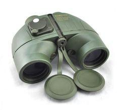 Visinking 7x50 Floating Waterproof Binoculars With Compass & Range Finder Marine Professional Telescope Binoculars High Quality