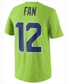 14afd5e09 Nike Men Fan  12 Seattle Seahawks Color Rush Name   Number T-Shirt