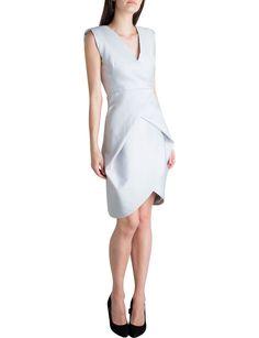 Cement Twill Fantail Dress | David Jones