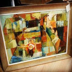 "Rosemary Zwick Oil on Canvas ""Children's Games"" $295  #mercantile_m #MercantileM #and#rosemaryzwick"