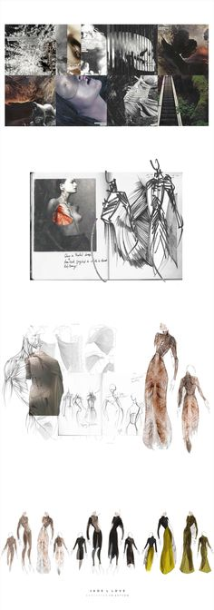 Fashion Sketchbook drawings, illustrations  fashion moodboard