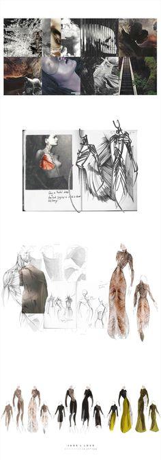 Fashion Sketchbook drawings, illustrations & fashion moodboard