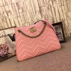 Gucci GG Marmont matelassé shoulder bag pink 453569