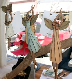 Handmade Wind Chime Fairies – Hand built clay pottery