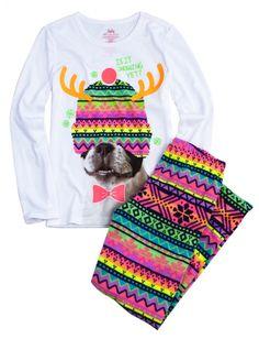 Pijama de perrito con cuernos de Navidad, incluye una mayas del mismo diseño que el del sombrero JUSTICE