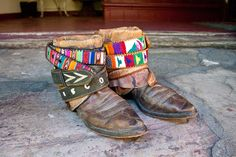 upcycled vintage cowboy boots via Etsy.