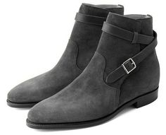Handmade men jodhpur boots, gray suede leather boot for men, men dress boots