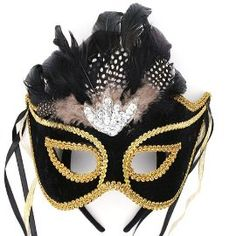 Black and Gold Mardi Gras mask   Who Dat?!