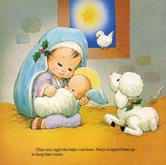María y José establo y allí realizada Nació el Niño Dios