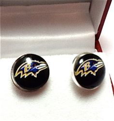 Cuff Links Baltimore Ravens  Football Team by CynthiaCoolBeans, $24.95